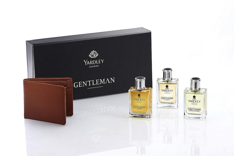 Yardley London Gentleman EDT Classic, 50ml Adventure, 50ml Legend, 50ml Gift Pack with Free Wallet