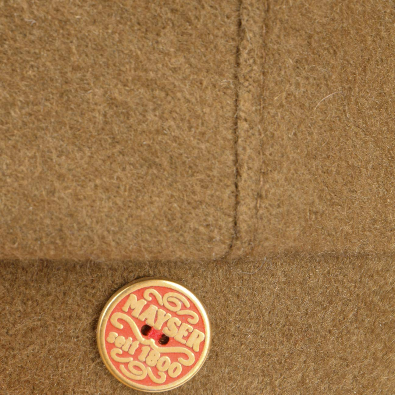 Mayser Frankie Cashmere Flat Cap Women/Men Camel 7 1/4 by Mayser (Image #4)