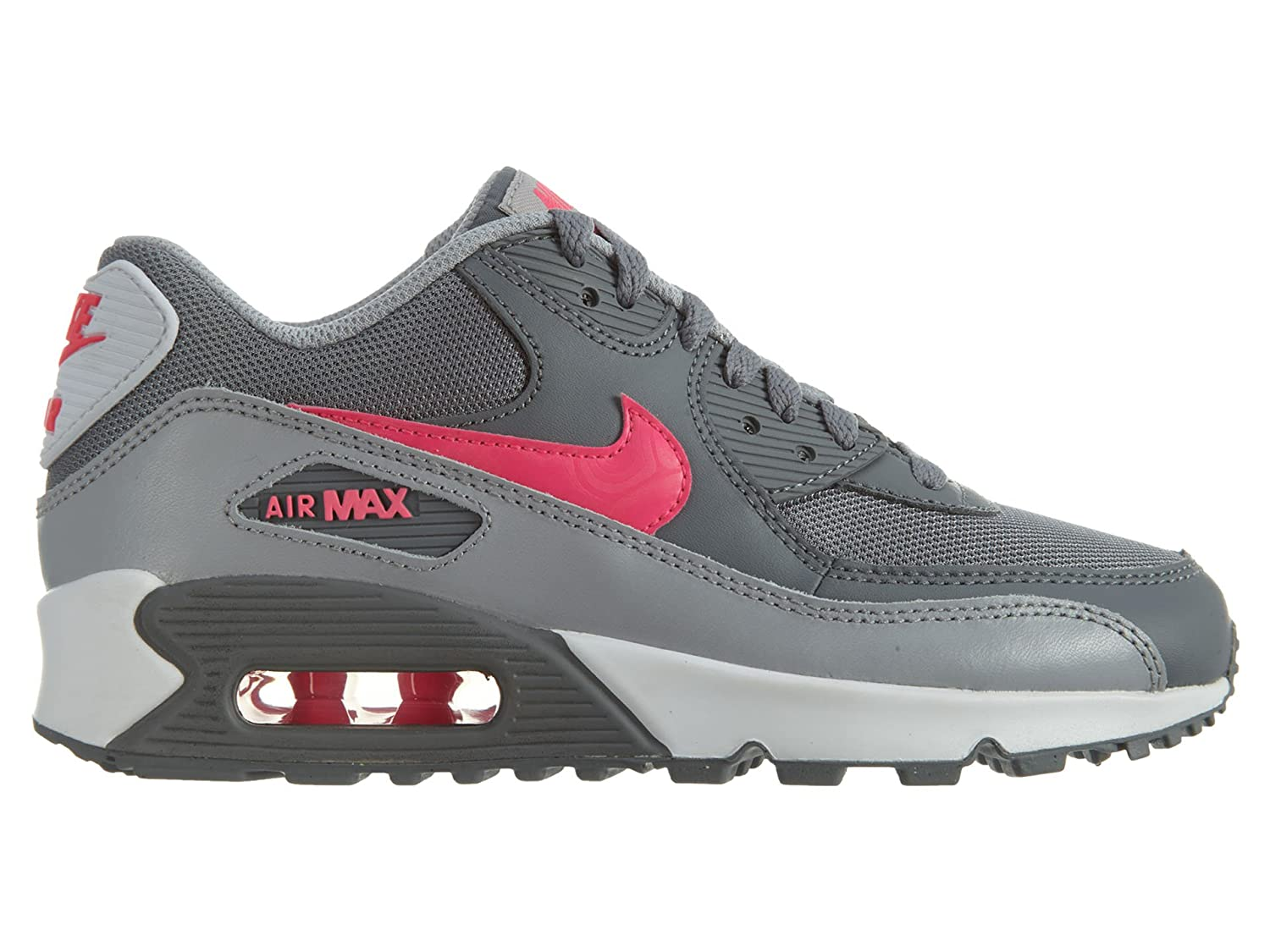 Nike Unisex Kids  Air Max 90 Mesh Low-Top Grey  Amazon.co.uk  Shoes   Bags 9ec613e40