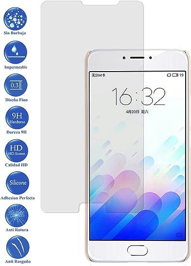 Todotumovil Protector de Pantalla Meizu M3 Note de Cristal Templado Vidrio 9H para movil: Amazon.es: Electrónica