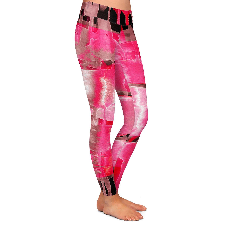 Inversion Hot Pink Athletic Yoga Leggings from DiaNoche Designs by Julia Di Sano
