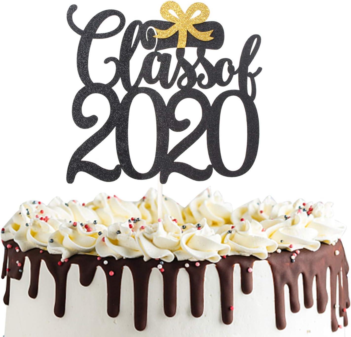 Class of 2020 Cake Topper, Congrats Grad Cake Decor for Graduation Party Decorations Graduate Supplies