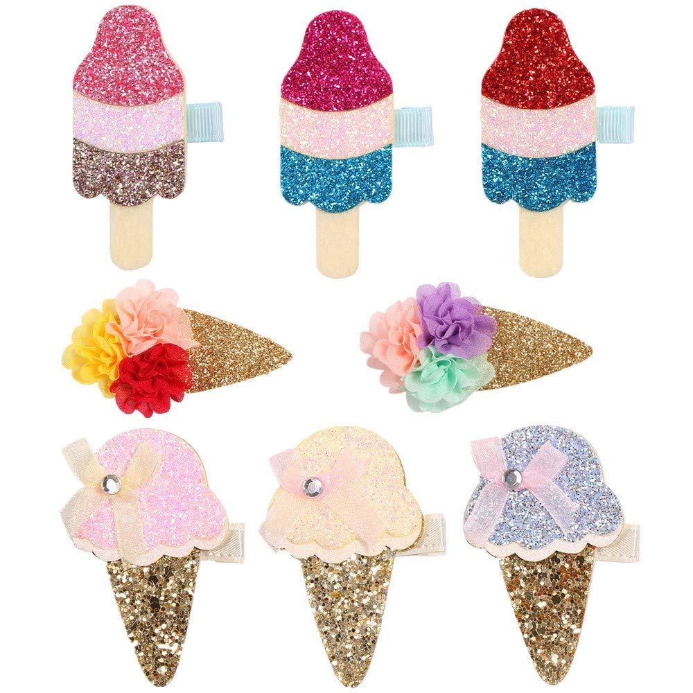 New Colors!! Drippy Cute Ice Cream Pop Barrette Hair Clips