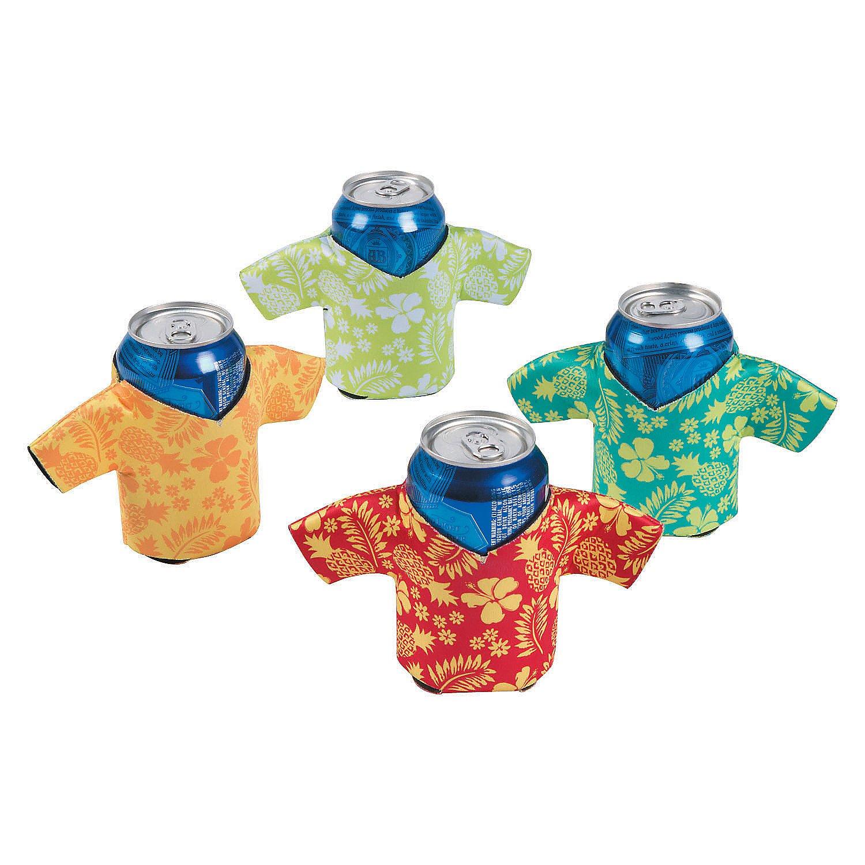 96a10d847 Amazon.com: Foam Hawaiian Shirt Can / Bottle Coolio's - Tiki Luau Time!  (12): Novelty T Shirts: Kitchen & Dining