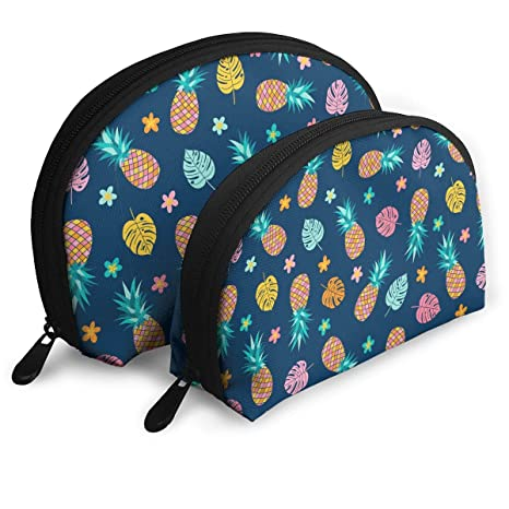 45cc84c0b760 Amazon.com: Cute Pineapple Flower Pattern Multifunction Cosmetic Bag ...