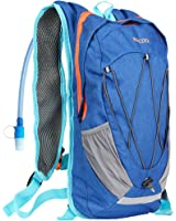 WACOOL Waterproof 10 Liter Hydration Bladder Pack, Cycling Running Walking Backpack, Hiking Lightweight Daypack.