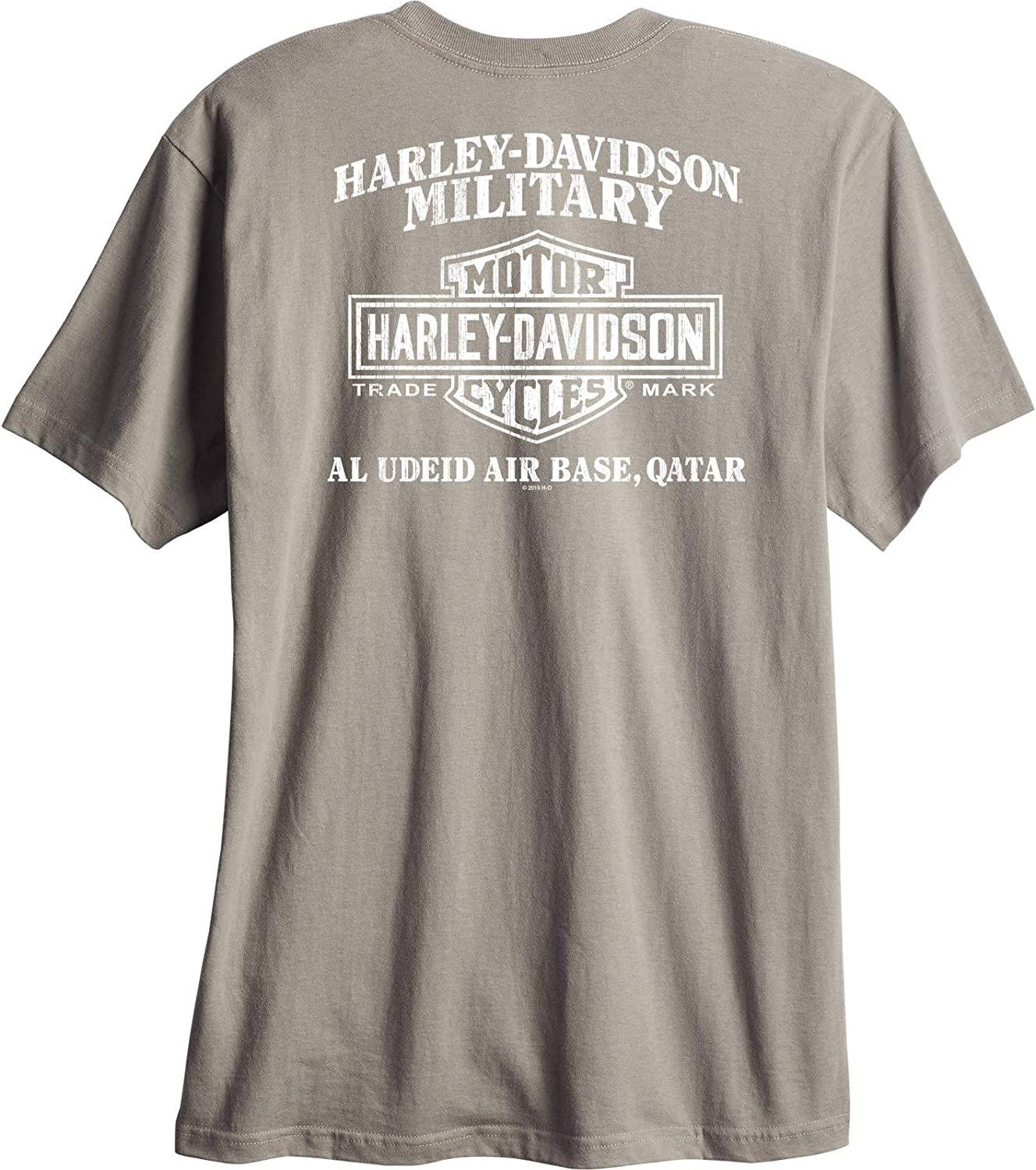 HARLEY-DAVIDSON Military Al Udeid Air Base Made in USA G Cap Mens Graphic T-Shirt