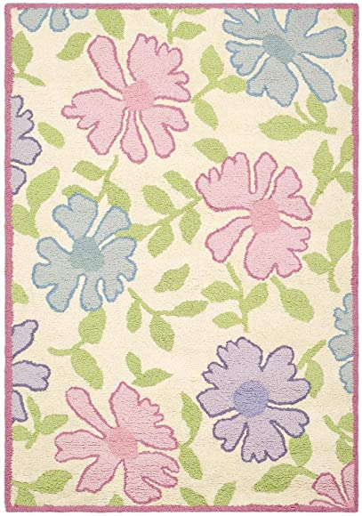 Safavieh Safavieh Kids Collection SFK376A Handmade Ivory and Pink Cotton Area Rug 6 x 9