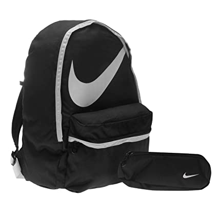674ba194c9f6 Nike Backpack   Pencil Case Black White Sports Gym School Bag Rucksack 22  liters  Amazon.co.uk  Luggage