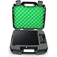Casematix Green Travel Case Fits Xbox One X 1tb Enhanced 4k HDR Gaming Console, Controller, Cables and Games with Impact…