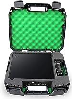 Casematix Green Travel Case Fits Xbox One X 1tb Enhanced 4k