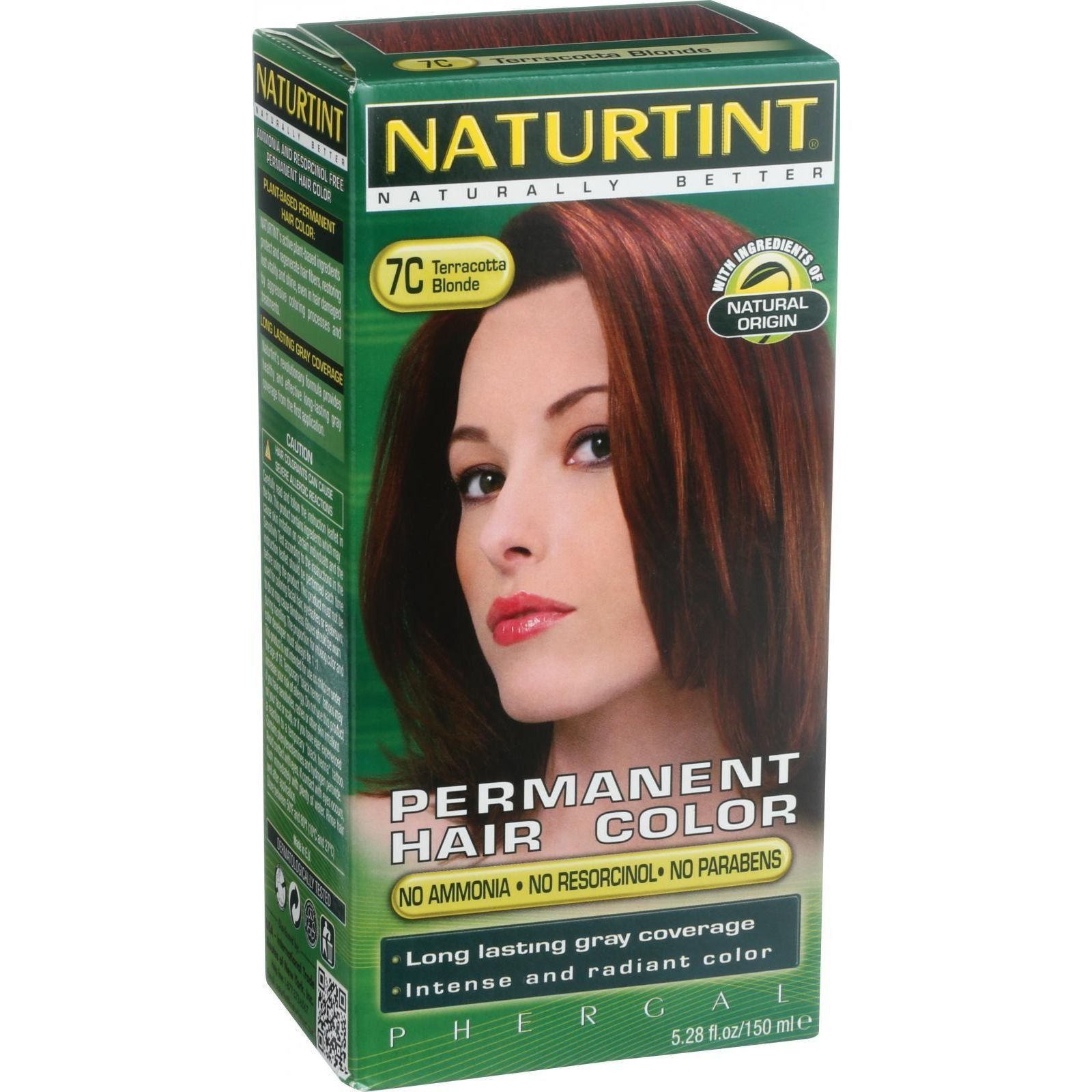 Naturtint Hair Color - Permanent - 7C - Terracotta Blonde - 5.28 oz (Pack of 3) by Naturtint