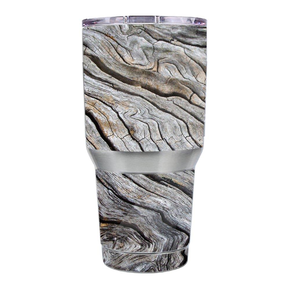 Skin Decal Vinyl Wrap for Ozark Trail 30 oz Tumbler Cup Skins Stickers Cover / Drift Wood Reclaimed Oak Log