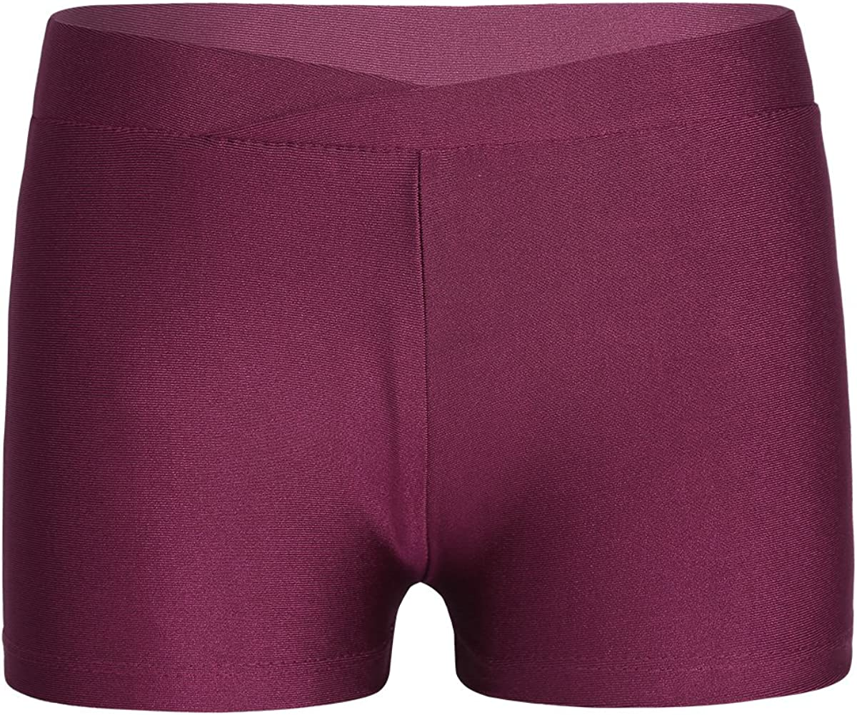Alvivi Kids Girls Stretchy V-Front Booty Shorts Knicker Ballet Dance Gymnastic Hot Pants Sports Underwear