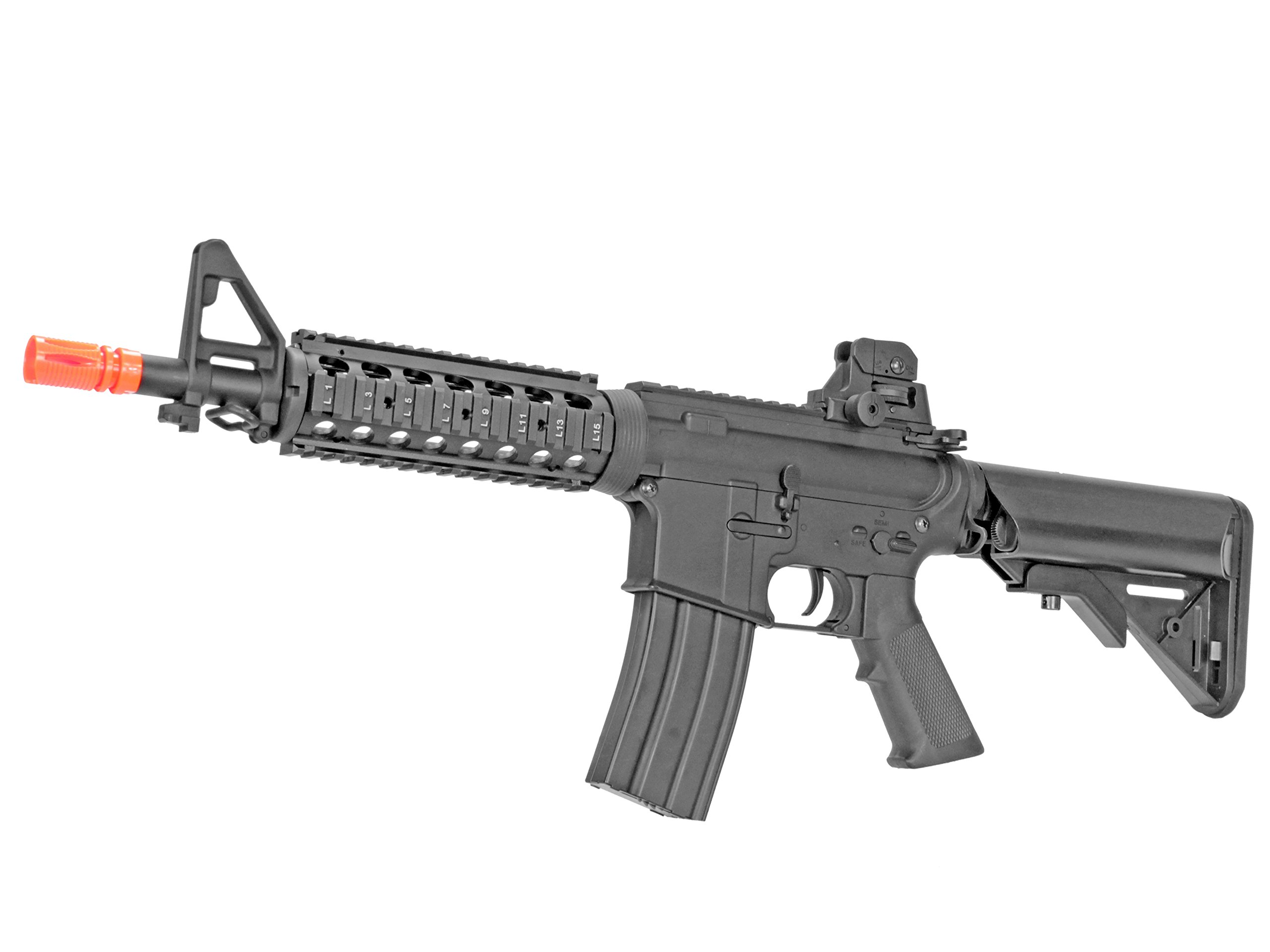 MetalTac Electric Airsoft Gun M4 JG-F6624 with Metal Gearbox Version 2, Full Auto AEG, Upgraded Powerful Spring 420 Fps with .20g BBs