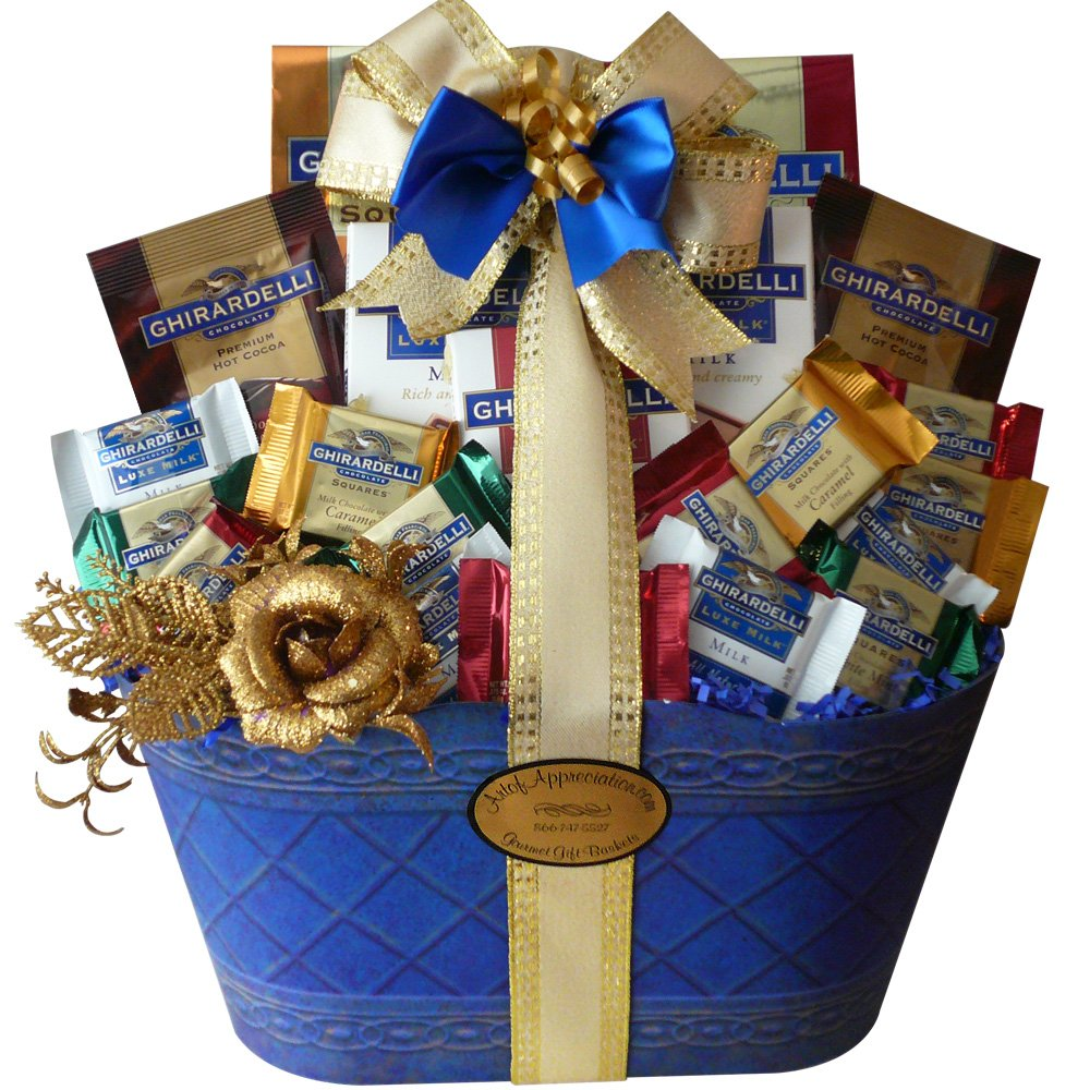 Amazon.com : Love and Joy of Ghirardelli Chocolate Gift Basket ...
