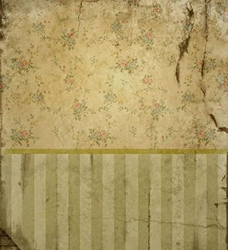 7 X 77 Ft Yellow Floral Vintage Wall Photography Backdrops Broken Old Style Retro Wallpaper Painted