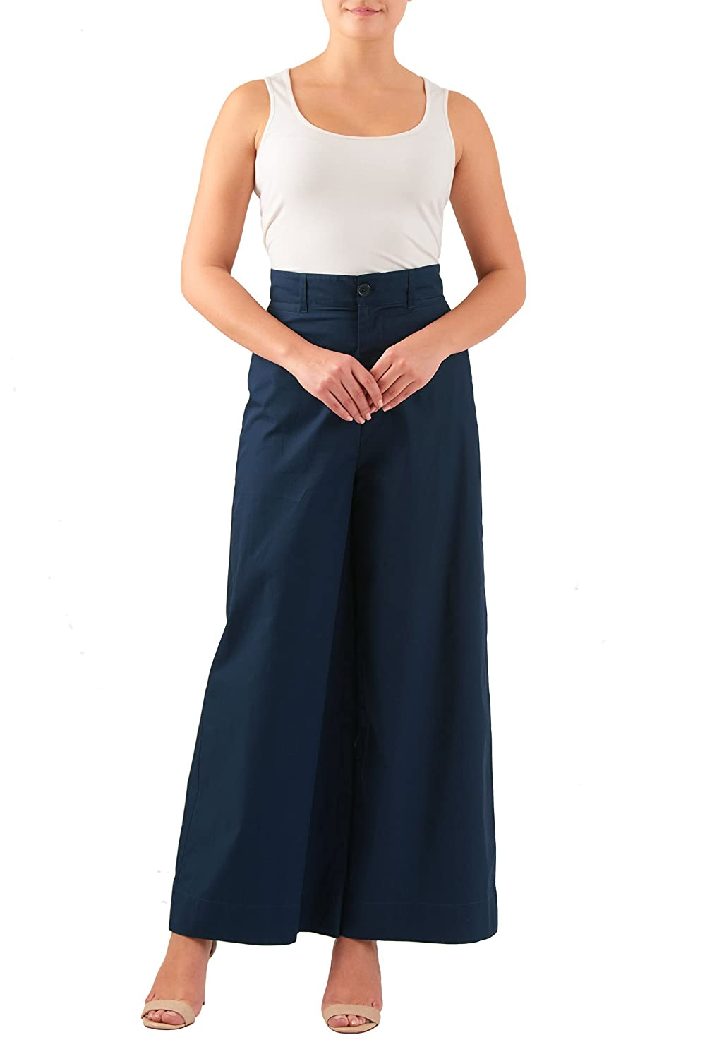 1930s Women's Pants and Beach Pajamas  Wide leg cotton poplin pants $42.95 AT vintagedancer.com