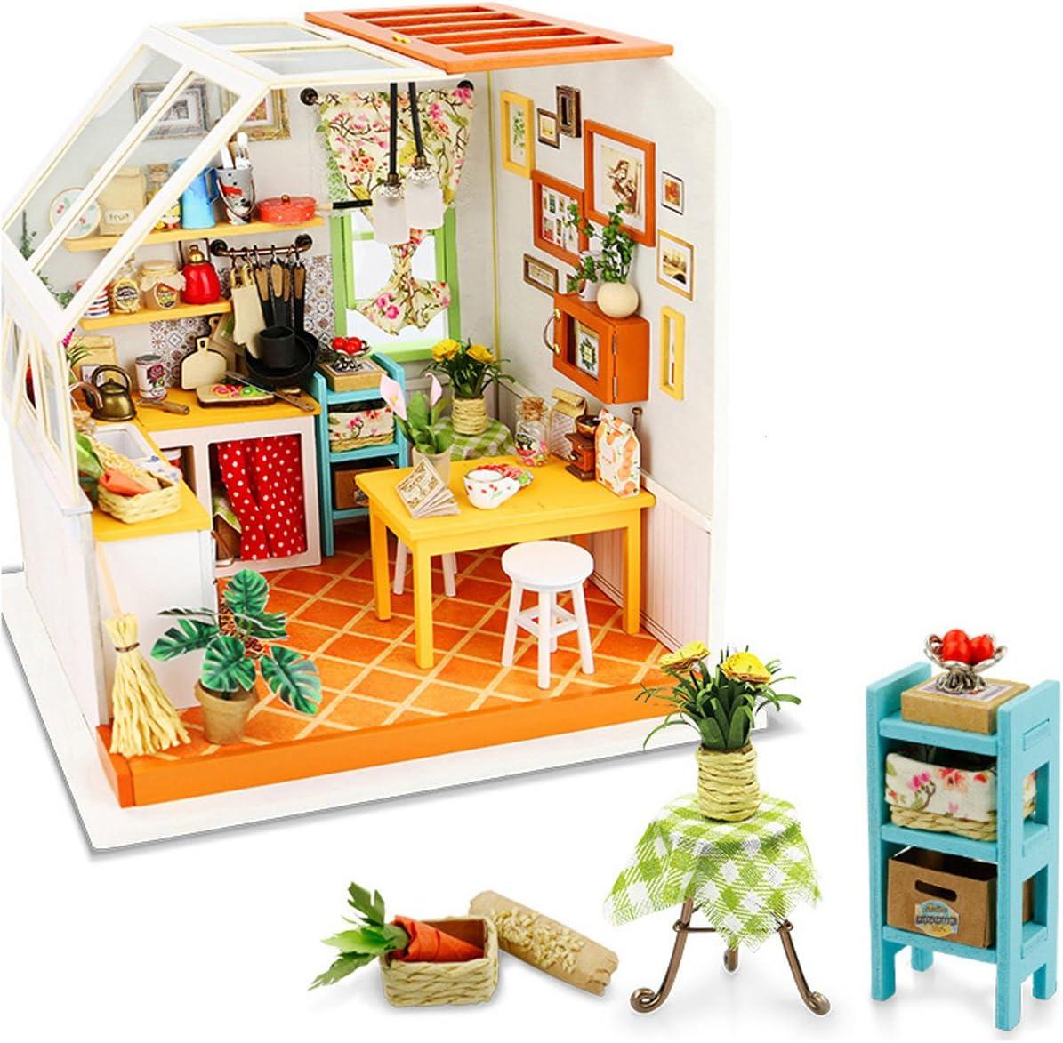 Muñecas en miniatura cocina conjunto de accesorios de cocina para hornear Rodillo Tazón Libro
