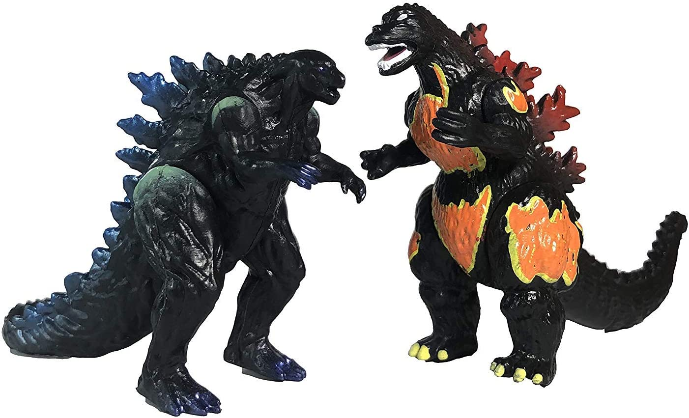 Set of 10 Godzilla Toys Movable Joint Birthday Kids 2019 Action Figures Mothra Imago Burning Heisei Mecha Ghidorah King of the Monsters Pack Plastic Mini Dinosaur Playsets Cake Toppers Package
