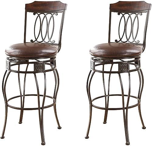 ACME 96049 Set of 2 Tavio Swivel Bar Chair