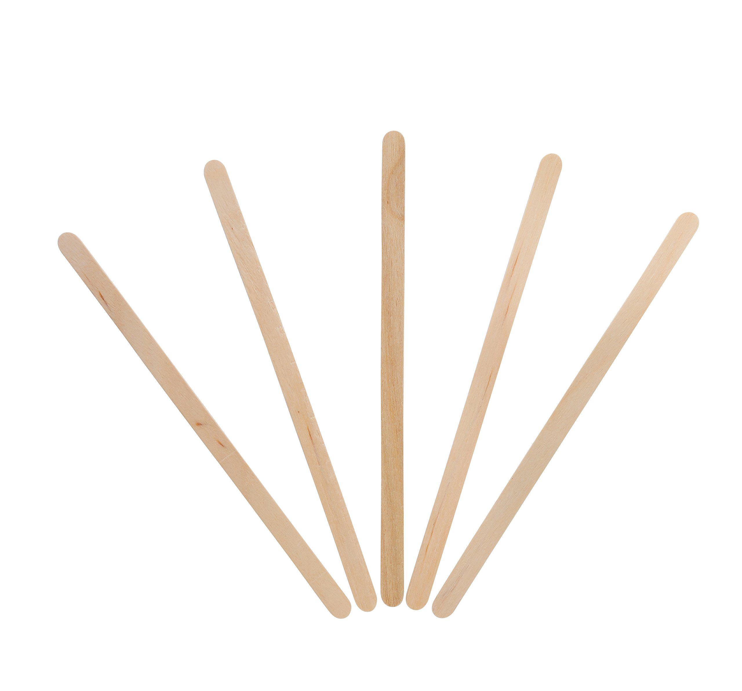 KingSeal Natural Birch Wood Coffee Beverage Stirrers - 5.5 Inches, Round End, 10 Packs of 1000 each per Case by KingSeal (Image #3)