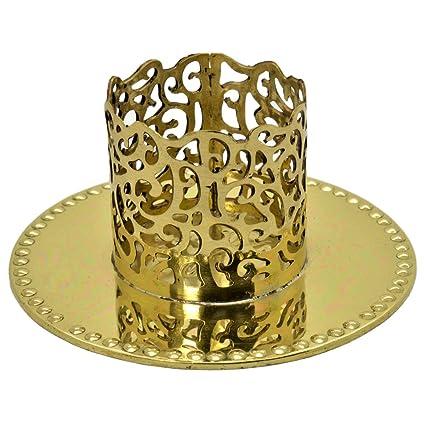 Kerzenständer für Taufkerze Kommunionkerze in Gold