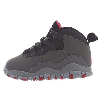 0527a9fd2dcbc6 Jordan Toddler 10 Retro Dark Smoke Dark Smoke Grey Rush Pink-Black (4