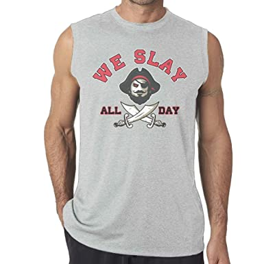 Amazon.com  NB UUD We Slay All Day Men s Workout Tank Top Gym Exercise  Classic Sleeveless Tee  Clothing ac2168dfa3d4b