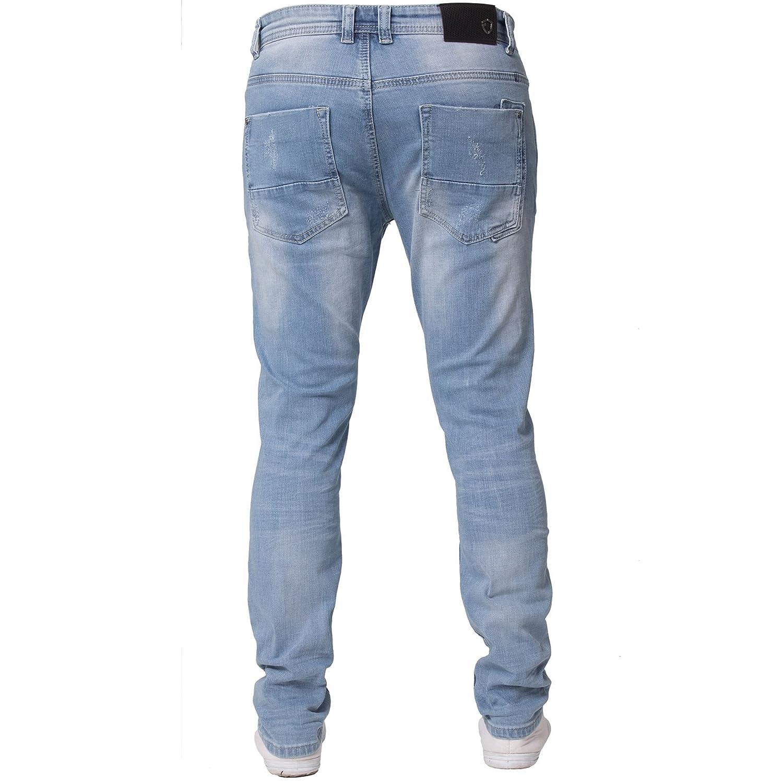 d0dd882e46ec0 Eto Mens Slim Fit Ripped Jeans Stretch Distressed Denim Pants  Amazon.co.uk   Clothing