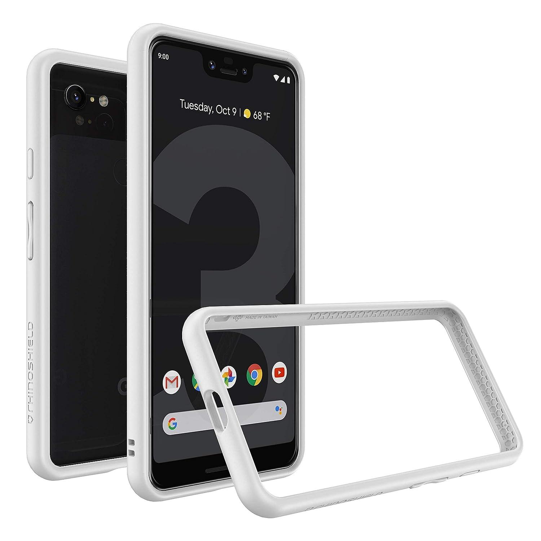 wholesale dealer 50a72 c308e RhinoShield Bumper Case for Google Pixel 3 XL [CrashGuard] | Shock  Absorbent Slim Design Protective Cover [3.5M/11ft Drop Protection] - White