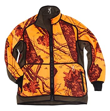 Browning Chaqueta de Caza powerfleece Reversible Blaze Naranja/Verde, Color marrón, tamaño Small: Amazon.es: Deportes y aire libre