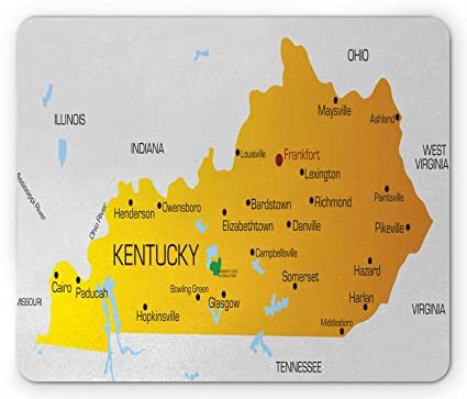 Amazon.com: Lunarable Kentucky Mouse Pad, Kentucky State with City on kentucky state legislative map, kentucky state map detailed, tennessee virginia and north carolina map, kentucky state road map, kentucky physical map, kentucky state travel map, kentucky state home, pittsburgh political map, kentucky state climate, memphis political map, kentucky state symbols, kentucky state resource map, kentucky state city map, kentucky state outline map, kentucky state map key, kentucky state outline printables, missouri political map, kentucky state bird, alabama political map, kentucky state map with cities and rivers,