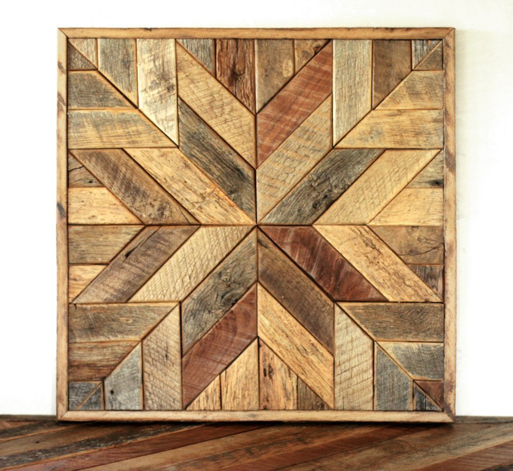Amazon.com: Reclaimed Wood Star Quilt Block Wall Art   26 Inch: Handmade