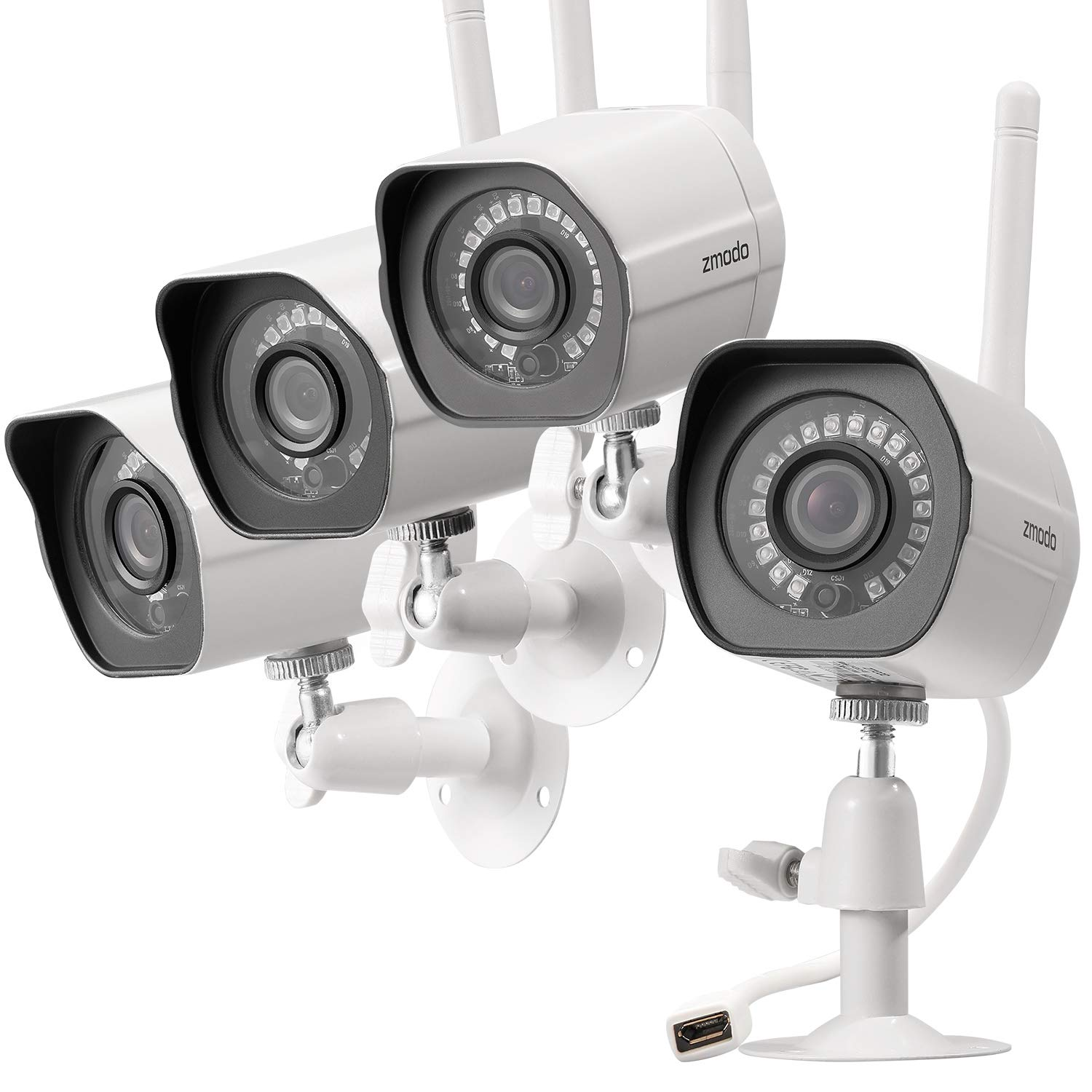 Zmodo 4 pack ezcam hd wireless kid and pet - Best wireless exterior security camera ...