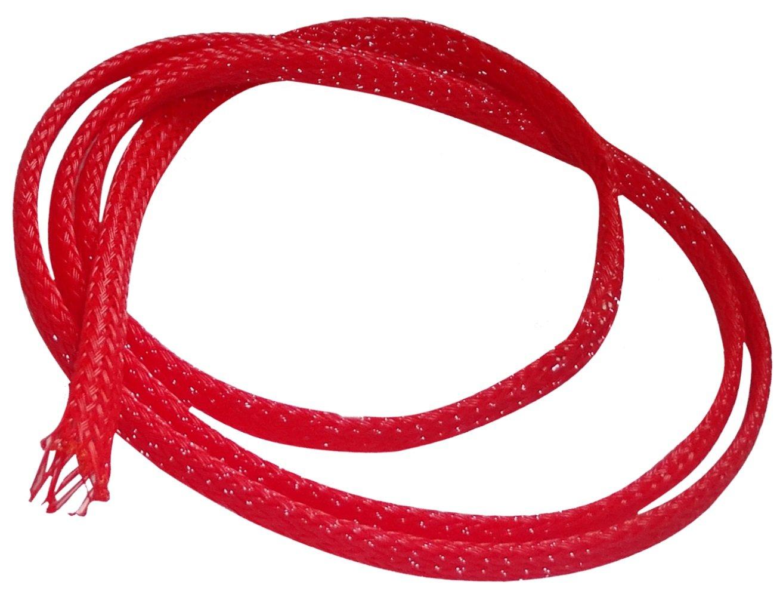 AERZETIX: 4.5 metros 3mm (2-5) Funda trenzada para cables mangas trenzadas color rojo SK2-C12448-AB56