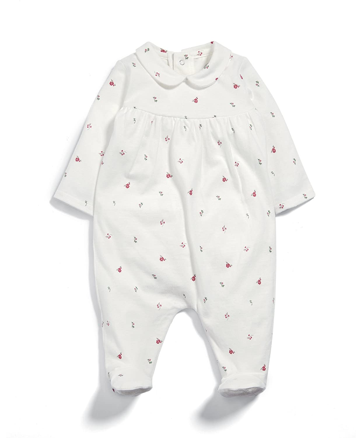 Mamas & Papas Baby Girls' Ditsy Print Collar All in One Sleepsuits Mamas and Papas