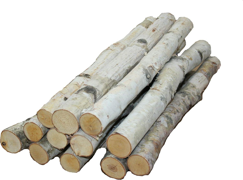 """Wilson Enterprises, Inc. Birch logs 1"""" to 1.5'' x 17-18'' Long - Set of 12 logs"""