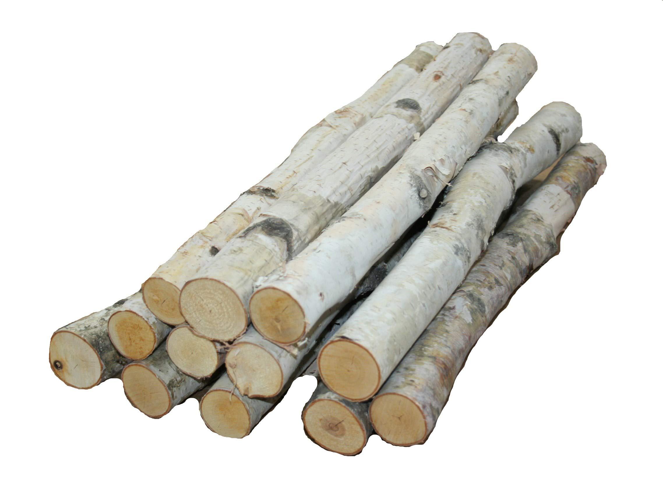 Wilson Enterprises, Inc. Birch logs 1'' to 1.5'' x 18'' Long - Set of 12 logs by Wilson Enterprises, Inc.