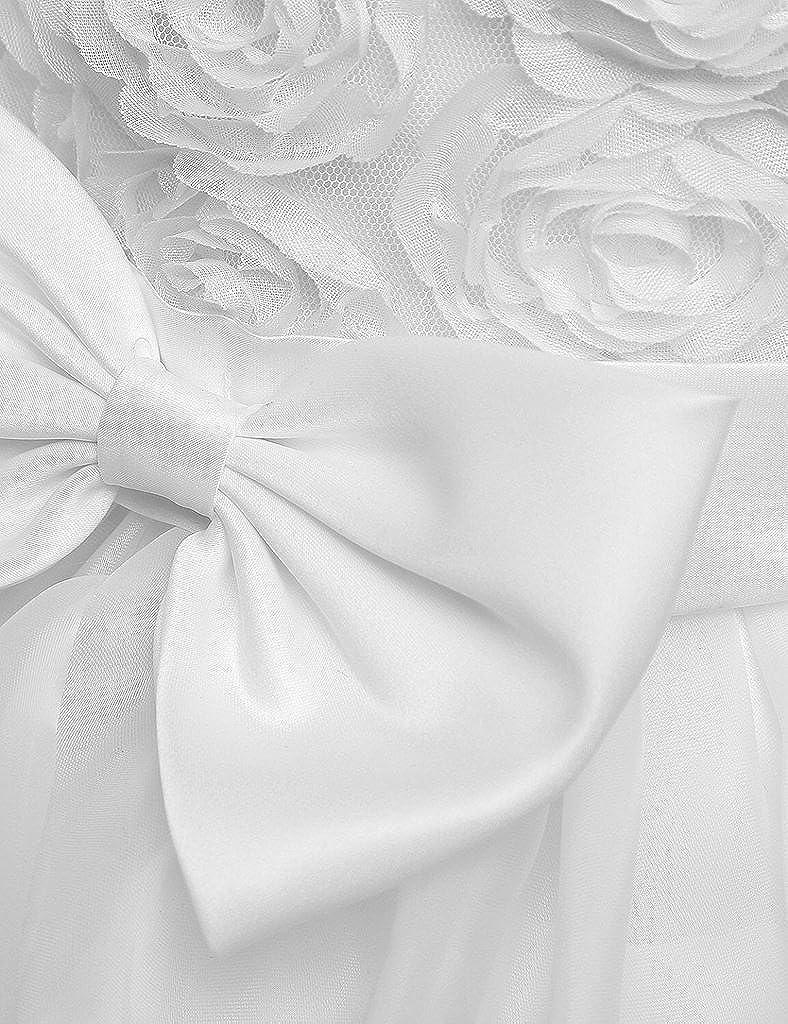 EUDOLAH Ragazza Abito Ruffles Fiori Vestito Abito da Sposa per Bambini Gonna Principessa