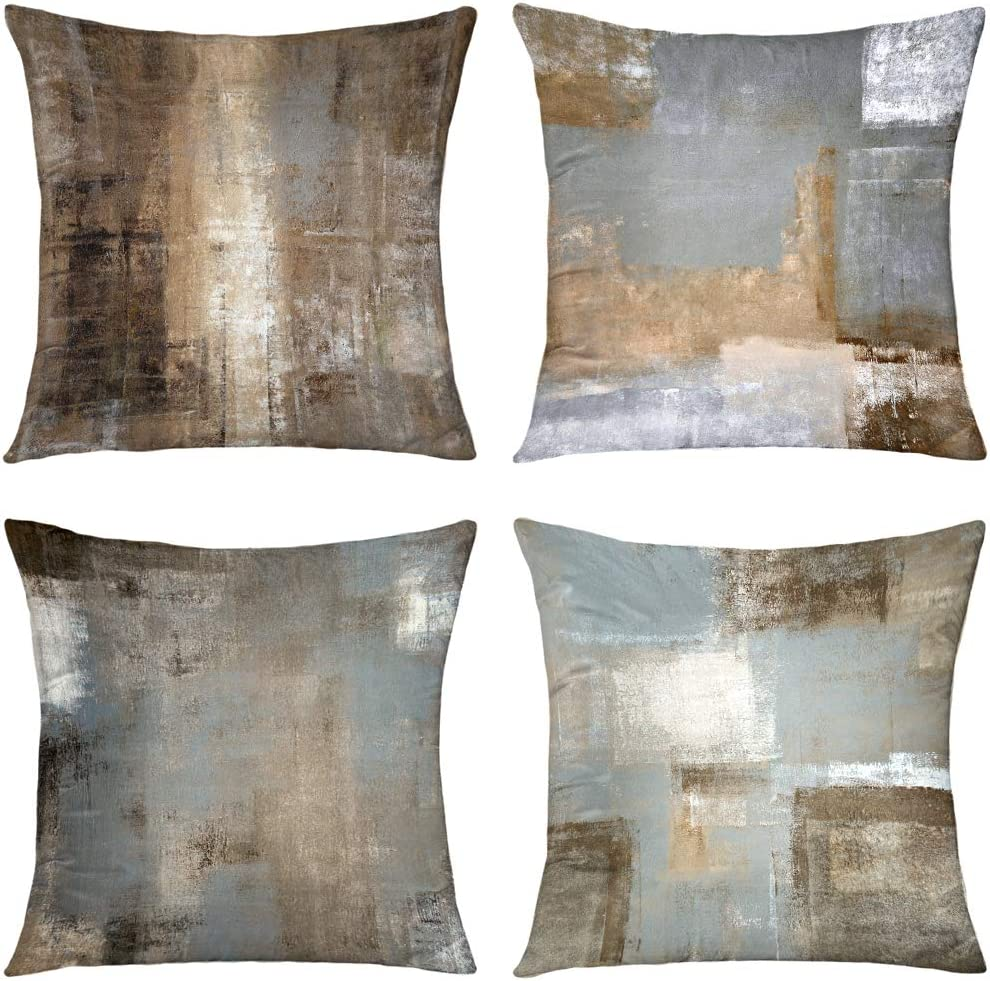 Max 73% OFF low-pricing GALMAXS7 Brown Grey Beige Decorative Ve Covers Pillow Soft Throw
