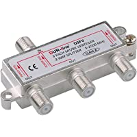 SAT & BK-verdeler - 3-voudige splitter - volledig afgeschermd - unicable & HD geschikt [DUR-line D3FV - voor…
