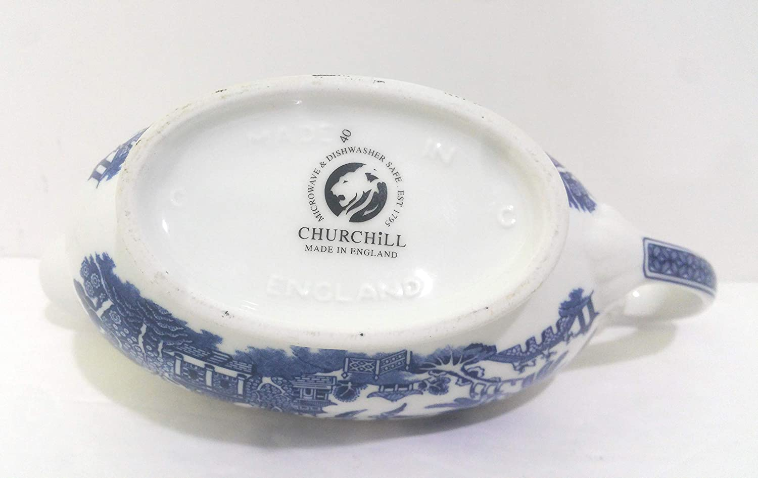 340 ml Multicolore Ceramica Churchill Blu Salsiera Georgiana in salice 20 x 8,5 x 8 cm
