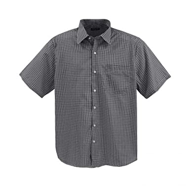 Lavecchia Klassisches Herren Kurzarm Hemd Übergröße mit Brusttasche von 3XL  bis 7XL schwarz-weiß kariert  3XL  Amazon.de  Bekleidung 5d68b52933