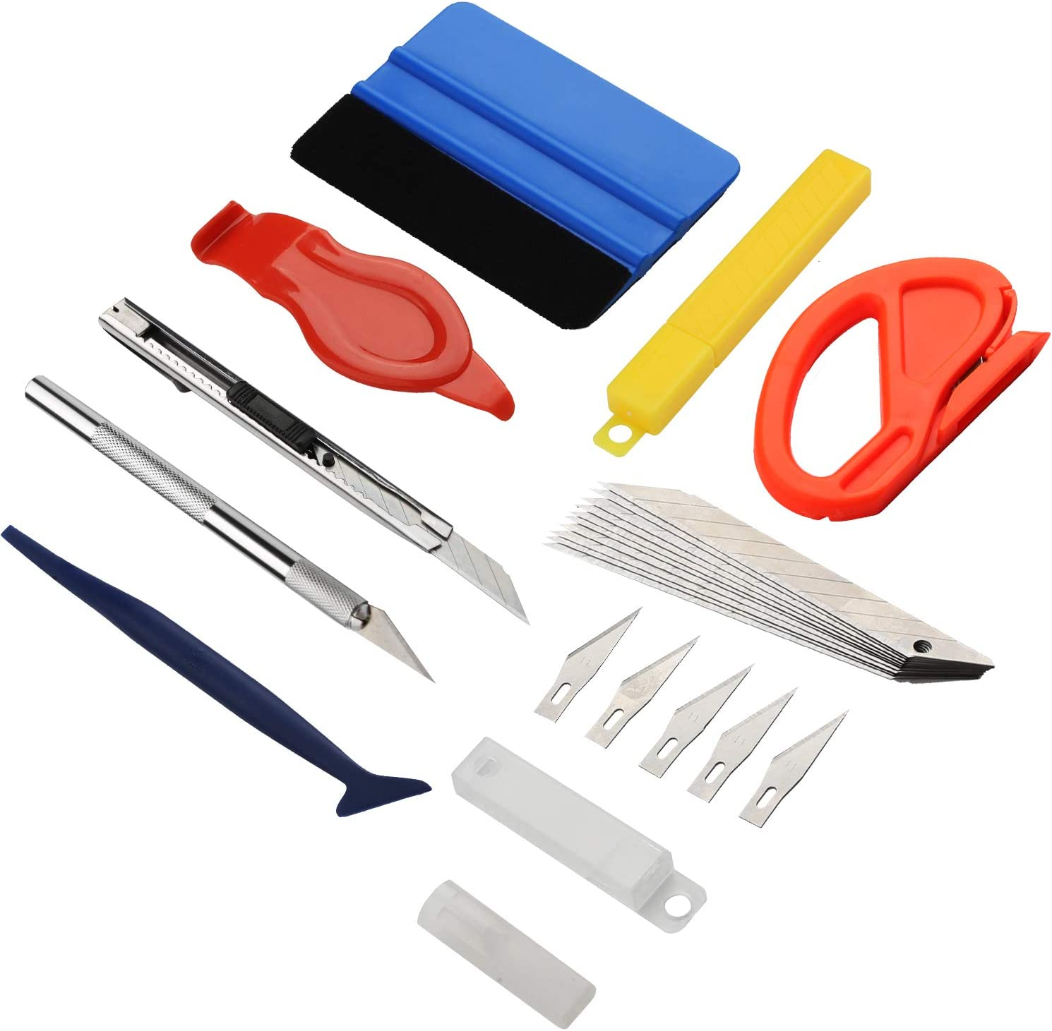 Professional 8PCS 3D Auto Vinyl Film Sticker Wrapping Install Tools Kit Set  USA