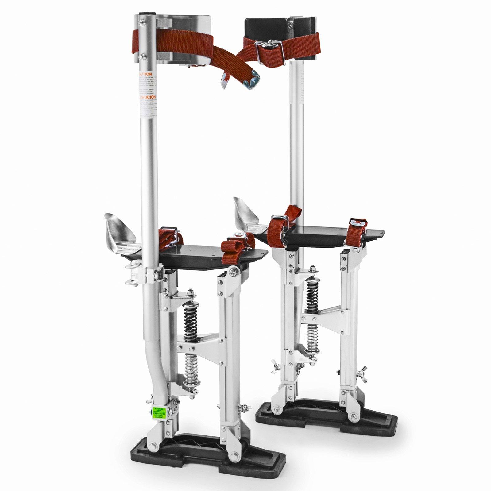 GypTool Pro 15'' - 23'' Drywall Stilts - Silver by GypTool