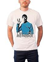 Star Trek T Shirt Live Long And Prosper Official Mens White