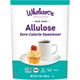 Wholesome Sweeteners Allulose Zero Calorie Granulated Sweetener, No Glycemic Impact, Non GMO, Gluten Free & Vegan, 12 oz (Pac