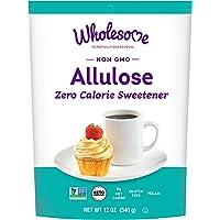 Wholesome Allulose Zero Calorie Granulated Sweetener, No Glycemic Impact, Non GMO, Gluten Free & Vegan, 12 oz (Pack of 1)