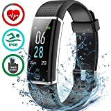 Axloie Fitness Band, Smart Health Band with Heart Rate Monitor Fitness Tracker Watch Waterproof Pedometer Calorie Counter for Men Women Call SMS Reminder for Android iOS (130C-heart Rate Monitor)